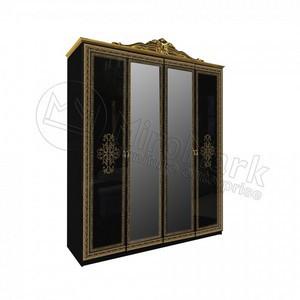 спальня Дженифер Black шкаф 4Д с зеркалом