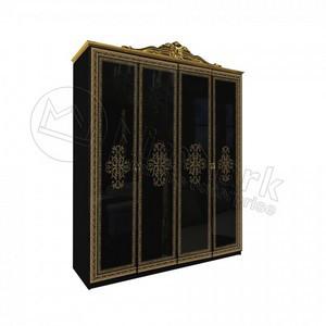 спальня Дженифер шкаф 4Д black  без зеркал
