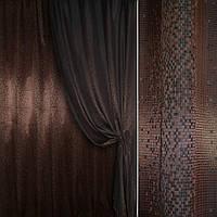 Шторы жаккард портьеры коричневый