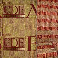 Мебельная обивочная ткань Шенилл обивочный оливковый золотистый буквы ш.145