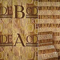 Мебельная обивочная ткань Шенилл оливковый бежевый буквы ш.145