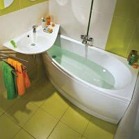 Угловая акриловая ванна AVOCADO 160x75 L