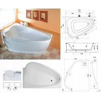 Угловая акриловая ванна LOVE STORY II PU Plus, левостороняя