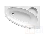 Угловая акриловая ванна ASYMMETRIC 170x110 см.