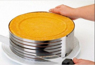 Кольцо раздвижное для нарезки и сборки коржей 15-20 см