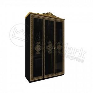 спальня Дженифер шкаф 3Д Black без зеркал
