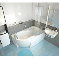 Угловая акриловая ванна ROSA 95, левосторонняя, 150х95 см.