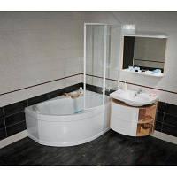 Угловая акриловая ванна ROSA I, правосторонняя, 150x105 см.