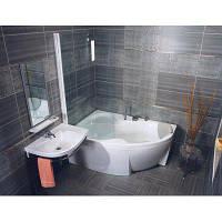 Угловая акриловая ванна ROSA II PU Plus, правосторонняя, 150x105 см.