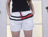 Женские шорты из плащевки с кулиской батал