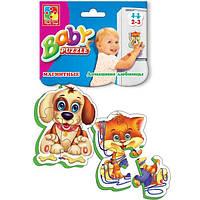 Vladi Toys Магнітні бебі пазли. Домашні улюбленці, VT3208-02