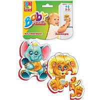 Vladi Toys Магнітні бебі пазли. Зоопарк, VT3208-01