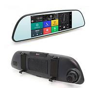 Автомобильный видеорегистратор и GPS навигатор. Экран 6.86 Android + 32 Гб карта