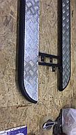 Боковые подножки Chevrolet Niva площадка D42 черный мат