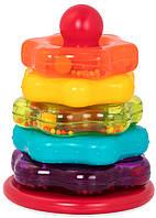 Развивающая игрушка ЦВЕТНАЯ ПИРАМИДКА 7 предметов Battat Lite (BT2579Z)