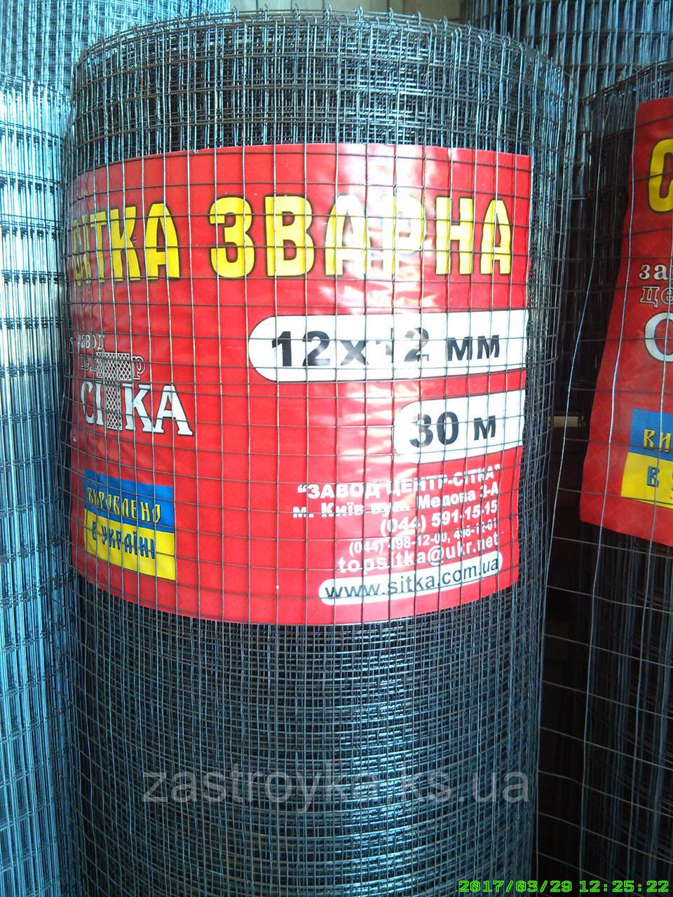 Сетка сварная 12х12мм d0,9мм (1х30м) (без покрытия) на метраж не режем