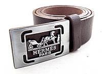 Кожаный коричневый ремень Hermes, фото 1