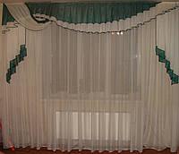 Ламбрекен прибой 3м зеленый, фото 1