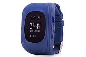 Детские GPS часы Smart Baby Watch Q50 LCD dark blue Скидка