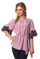 Элегантная блузка с кружевом  (416)