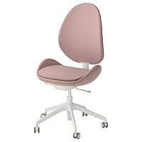 """ИКЕА """"ХАТТЕФЬЁЛ"""" Рабочий стул, светло-розовый."""