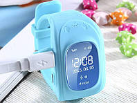 Детские GPS часы Smart Baby Watch Q50 LCD blue Скидка