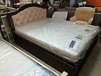 """Кровать двуспальная """"Клеопатра"""" из массива ольхи"""