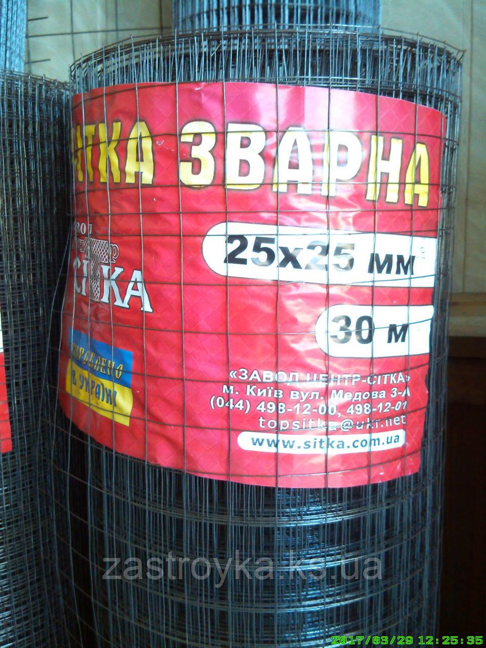 Сетка сварная 25х25мм d0,9мм (1х30м) (без покрытия) на метраж не режем