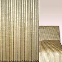 Мебельная обивочная ткань шенилл серый с бежевый оливковый полосками ш.137
