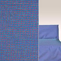 Мебельная обивочная ткань шенилл синий с бордовый голубой строчкой с пропиткой основы ш.140