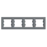 Рамка Schneider-Electric Asfora Plus 4-постовая горизонтальная сталь