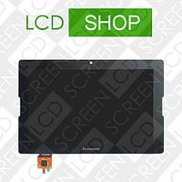 Модуль для планшета 10.1 Lenovo IdeaTab A10-70 A7600, черный, дисплей + тачскрин, фото 1