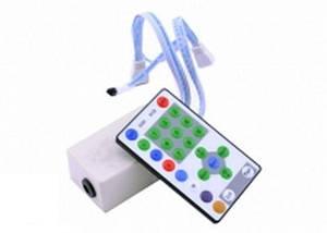 Контролер до біжучої хвилі 3 segment LED 12A, (27 кнопок) інфрачервоне дистанційне керування Код.52541