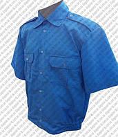 Рубашка форменная белая, голубая, черная, кремовая, оливковая на короткий рукав