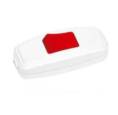 Вимикач для бра червоно-білий (Horoz) Код.55220