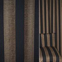 Мебельная обивочная ткань Шенилл бежевый в черную полоску ш.140