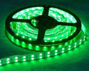 Светодиодная лента Premium SMD 5050/120 двухрядная зеленая (изумрудная) IP20 Код.57272