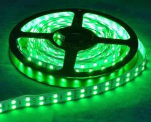 Світлодіодна стрічка Premium SMD 5050/120 дворядна зелена (смарагдова) IP20 Код.57272