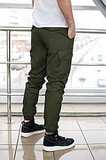 Брюки мужские милитари BRASH олива Maw Manandwolf карго(Cargo) pants cotton , фото 3