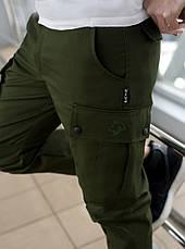 Брюки мужские милитари BRASH олива Maw Manandwolf карго(Cargo) pants cotton , фото 2