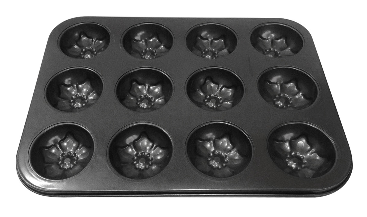 Форма для выпечки кексов Нарциссы 12 шт тефлон