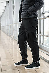 Брюки мужские милитари BRASH черные Maw Manandwolf карго(Cargo) pants cotton