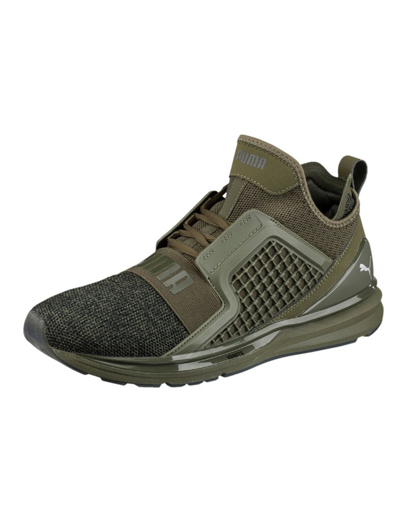 Puma Men's Ignite Limitless Knit Shoes Olive