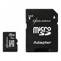 Карта памяти eXceleram 128Gb microSDHC class 10 (MSD12810A)