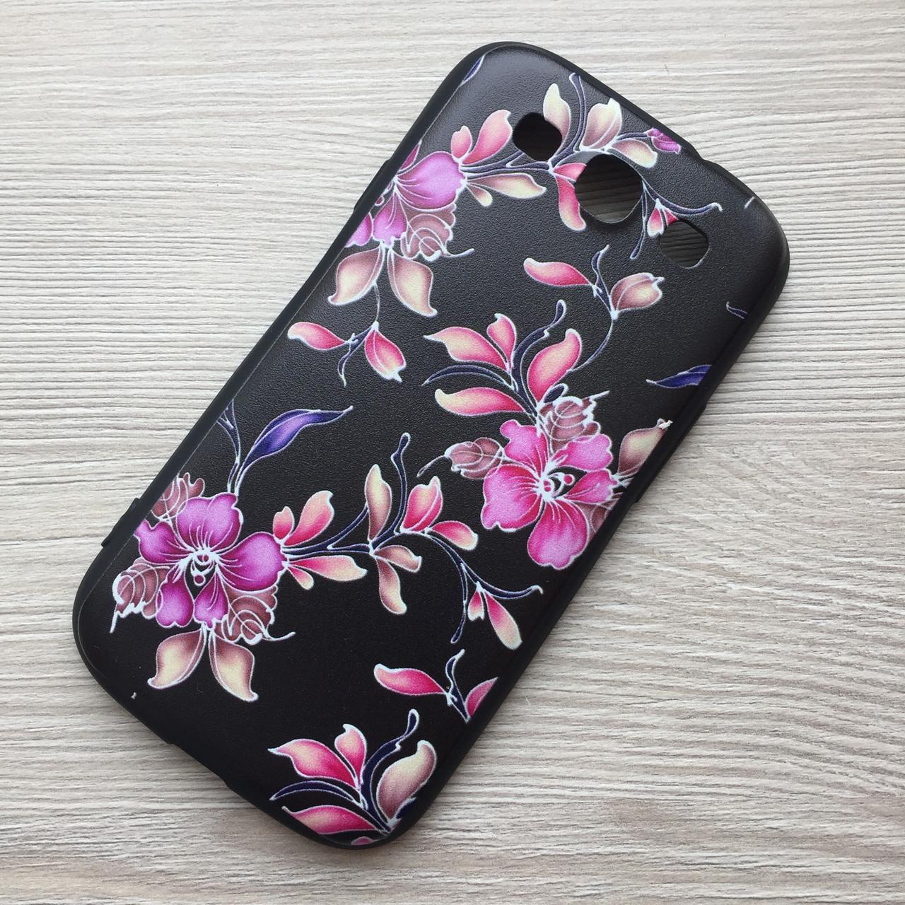"""Силиконовый чехол """"цветы"""" для Samsung Galaxy S3 i9300"""
