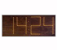Светодиодные часы в деревяном корпусе (дата, время, температура) , фото 1