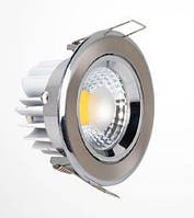 Светодиодный светильник Horoz (HL699L) 5W 2700K кругл. мат. хром (потолочный) Код.56825
