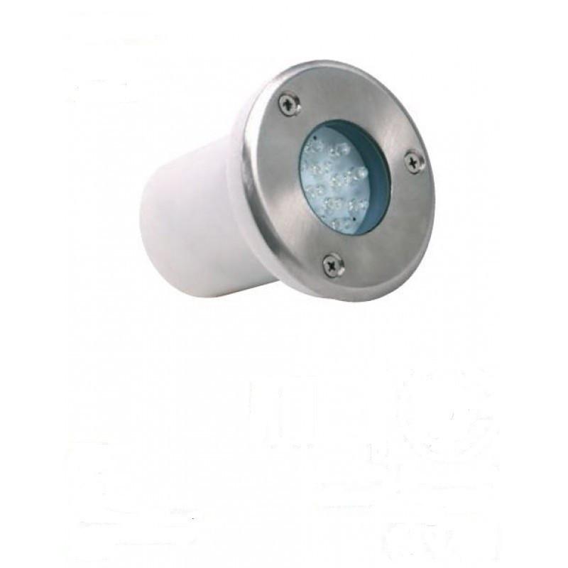 Светодиодный грунтовой встраиваемый светильник Horoz HL940L IP67 белый сатин круглый Код.57110