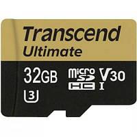 Карта памяти Transcend 32GB microSDHC class 10 UHS-I U3 MLC (TS32GUSDU3M)