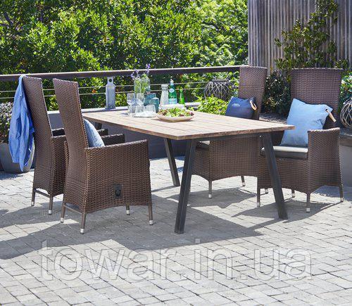 Набор садовой мебели SANDVIG 200см + 4 SKIVE коричневий